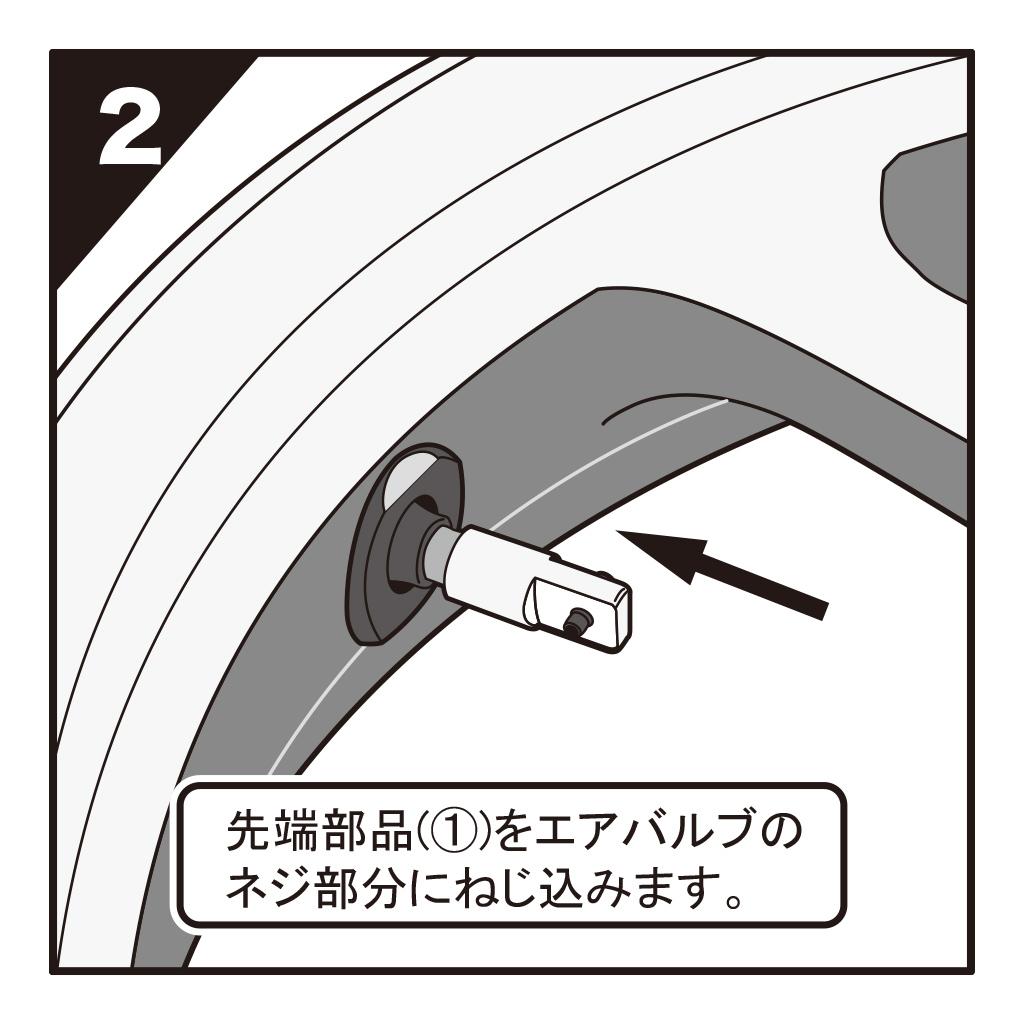 タイヤバルブ装着ツール 自動車・バイク兼用(19-758_3)の画像